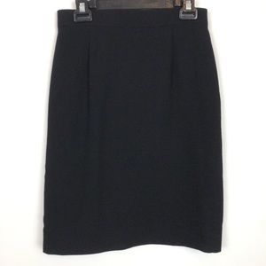 Vtg Authentic CHANEL CC Uniform Aline Skirt Wool